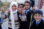 Deaf children in Gaza